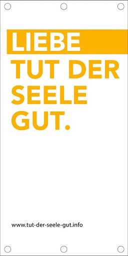 LIEBE TUT GUT - Banner 100 x 200 cm, LIEBE