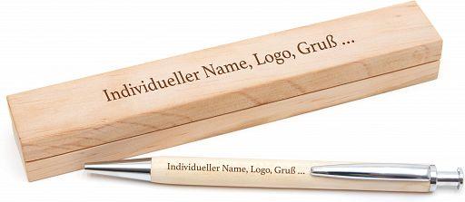 Holzkugelschreiber mit Etui - individuell