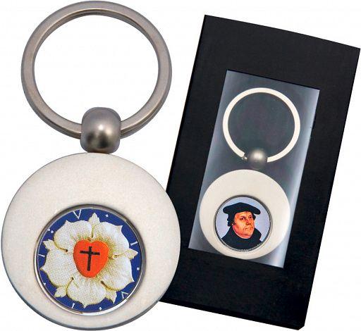 Schlüsselanhänger Luther mit Einkaufschip, in Präsentschachtel