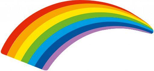 Pin Regenbogen mit Dorn
