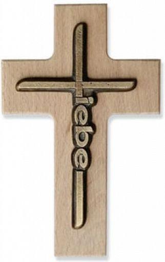 Holzkreuz, Holzwandkreuz  - Liebe