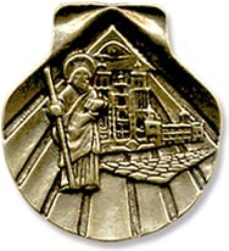 Handschmeichler - Jakobsmuschel, bronziert