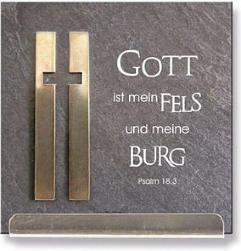 """Schiefertafel """"Psalm 18,3"""""""