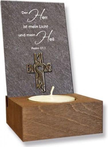 """Schiefertafel """"Der Herr ist mein Licht"""""""