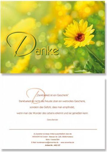 "Geburtstagskarte ""Danke"""
