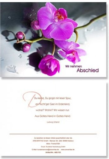 """Trauerkarte """"Abschied"""""""