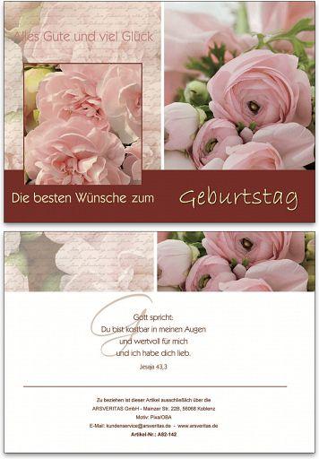 "Geburtstagskarte ""Rose"""