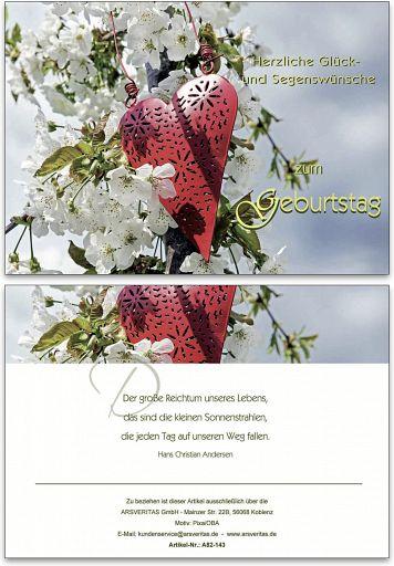 "Geburtstagskarte ""Herz"""