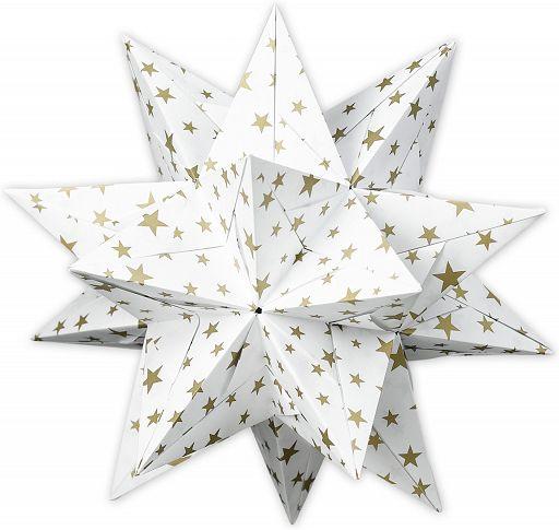 Aurelio Stern Set weiß, mit goldenen Sternchen