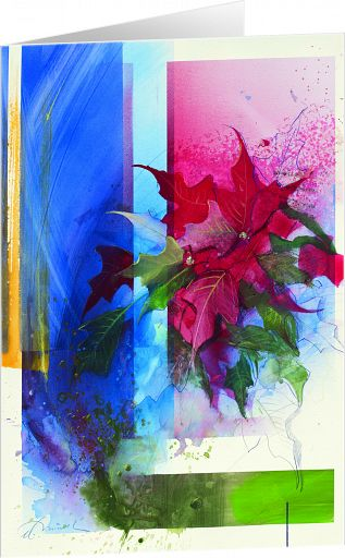 Kunst-Faltkarte - Weihnachtsstern