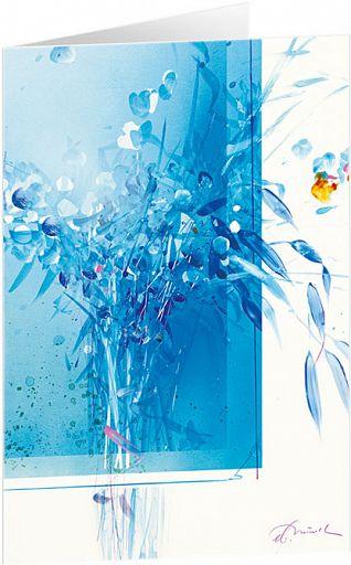Kunst-Faltkarte - Blauer Strauß