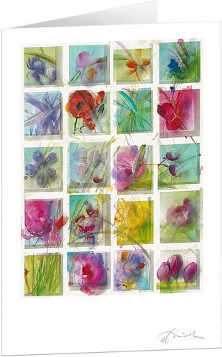 Kunst-Faltkarte - Frühlingswiese