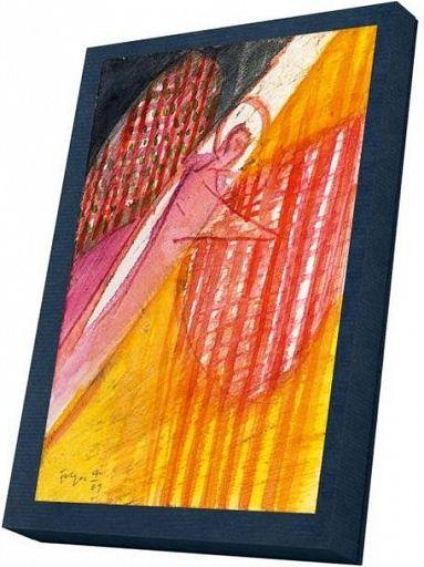 Kunst-Faltkarte im Karton, Leuchtende Engel