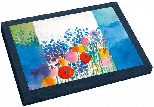 Kunst-Faltkarte im Karton, Sommerwiese