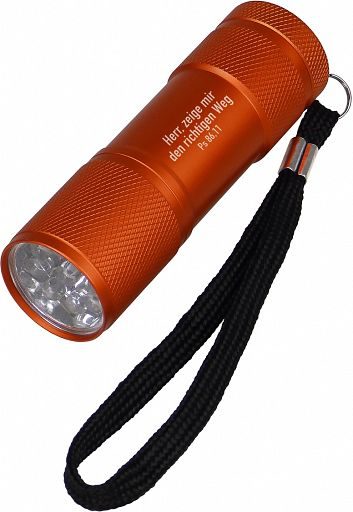 LED-Taschenlampe orange