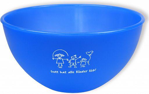 """Frühstücksschale """"Gott hat alle Kinder lieb"""" - blau"""