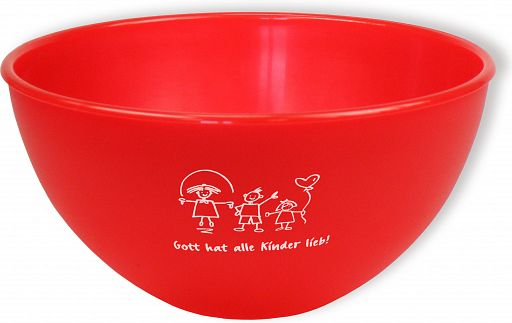 """Frühstücksschale """"Gott hat alle Kinder lieb"""" - rot"""
