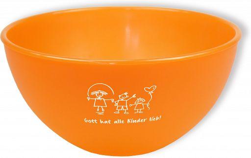 """Frühstücksschale """"Gott hat alle Kinder lieb"""" - orange"""