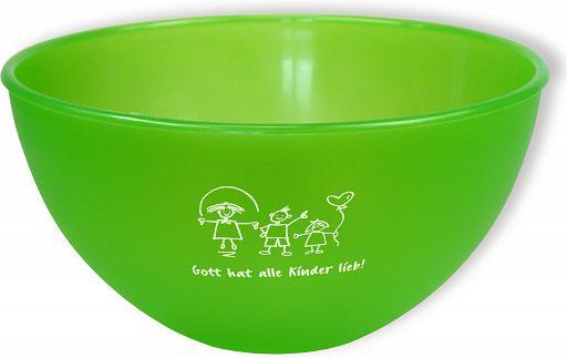"Frühstücksschale ""Gott hat alle Kinder lieb"" - grün"