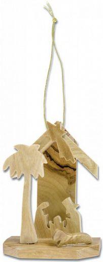 Weihnachts-Baumschmuck Krippe mit Stall