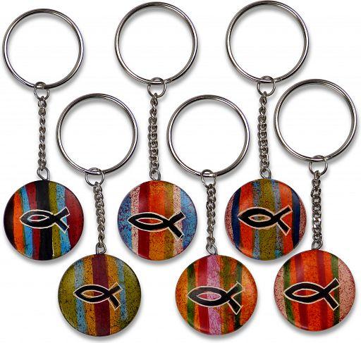 Schlüsselanhänger Ichthys, rund