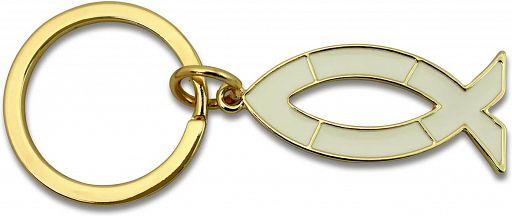 Schlüsselanhänger Ichthys, gold