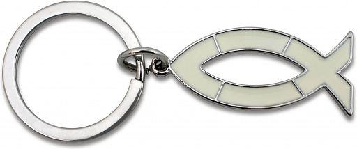 Schlüsselanhänger Ichthys, silber