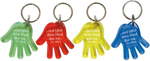 """Schlüsselanhänger Hand """"hältst deine Hand über mir"""""""