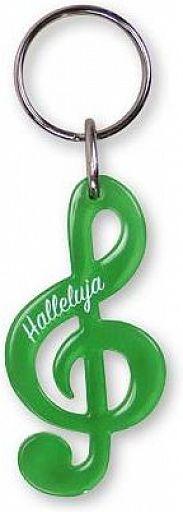 Schlüsselanhänger Notenschlüssel - grün