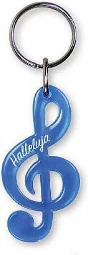 Schlüsselanhänger Notenschlüssel - blau