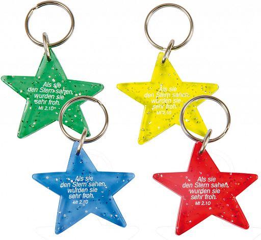 Schlüsselanhänger Stern, Plastik
