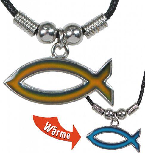 Halskette mit Farbwechsel Fisch-Anhänger