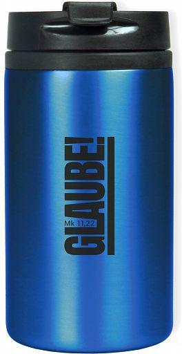 "Thermobecher ""Glaube!"", blau"