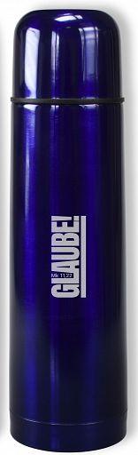 "Thermoskanne ""Glaube!"", blau"