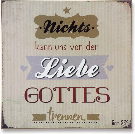 """Vintage-Wandbild """"Liebe Gottes"""""""
