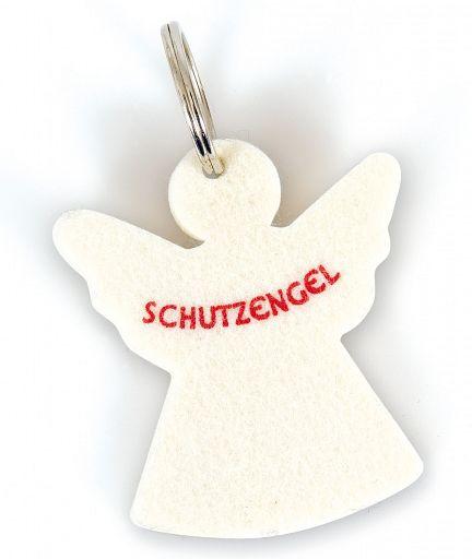 Schlüsselanhänger Schutzengel, Filz