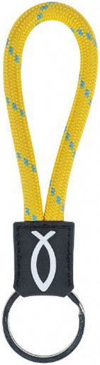 Schlüsselanhänger Lanyard, gelb