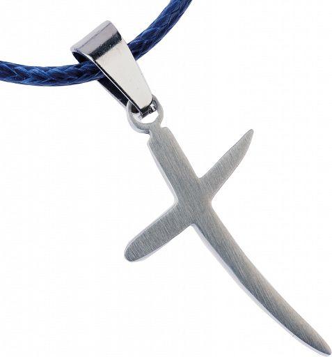 Feiner geschwungener Kreuzanhänger