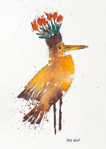 Kunstkarte Wiedehopf