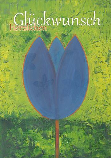 Kunstkarte: Blaue Blume