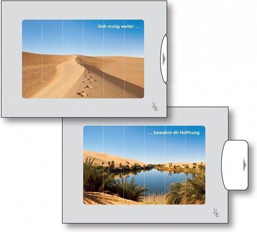Zwei-Bild-Karten Wüste