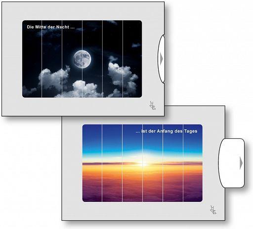 Zwei-Bild-Karten Mond