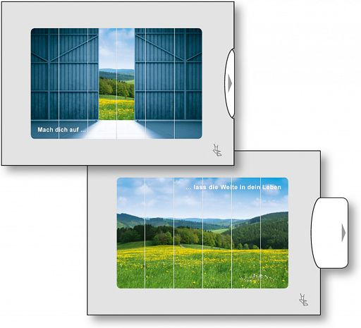Zwei-Bild-Karten Tor