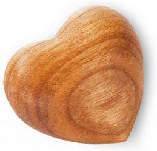 Holz-Herz mit Maserung
