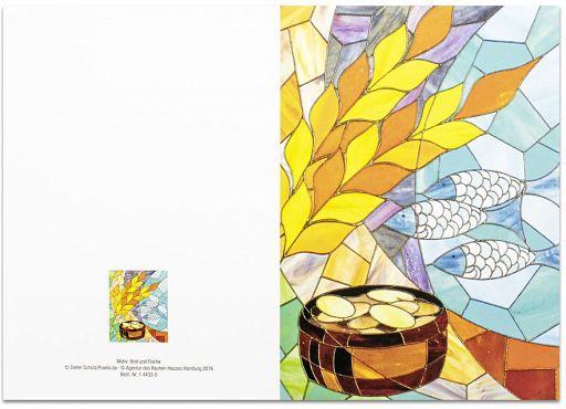 10erSet PC-Faltschein Brot Und Fische