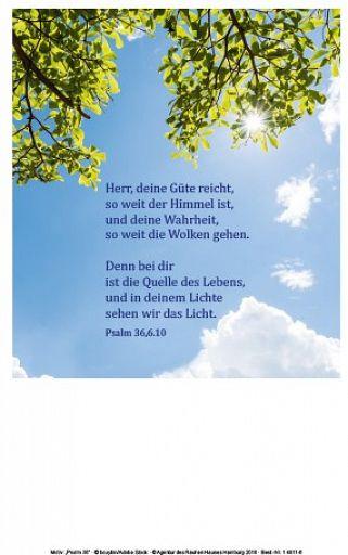 Einlegeblatt Herr, deine Güte reicht ... Ps 36