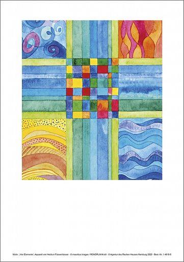 Einlegeblatt - Vier Elemente