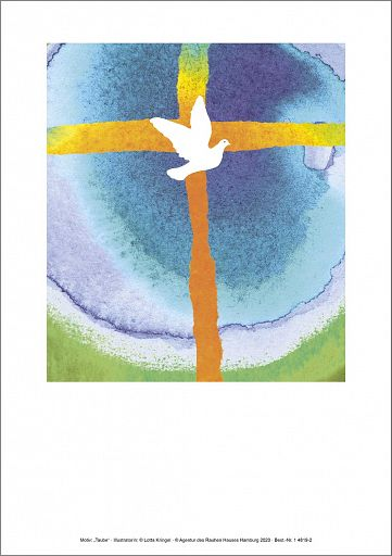 Taufmotiv Taube, Einlegeblatt
