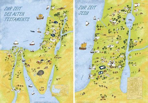 Wandkarten zum AT und NT, überarbeitet