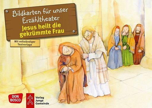 Kamishibai Bildkartenset - Jesus heilt die gekrümmte Frau